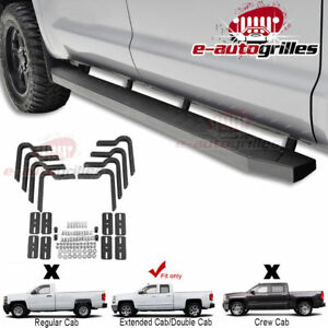 Running Board Step Bars Brackets For 01 14 Chevy Silverado Extended Cab