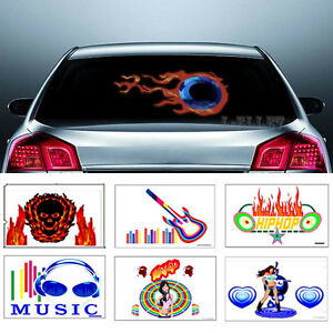 Optional Led Flash Sound Activated Equalizer Car Sticker Music Rhythm Light 1set