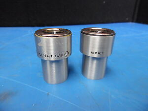 Lot Of 2 Bausch Lomb 15 X W f Microscope Eyepieces