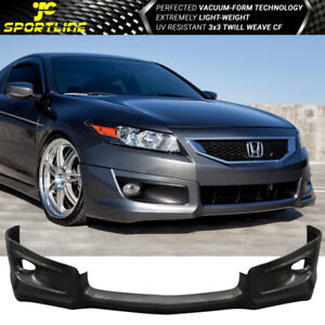 Fits 08 09 10 Honda Accord Coupe Pu Front Bumper Lip Hfp Style Bodykit Splitter