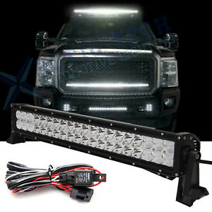 21 120w Led Work Light Bar Driving Off Road 4wd Atv Truck Boat Lamp Fit F150