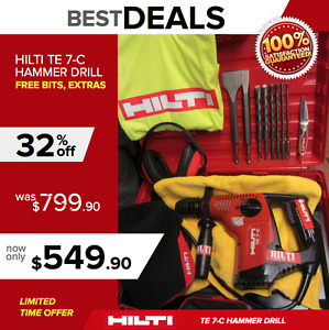 Hilti Te 7 c Hammer Drill Great Condition Free Extras Durable Fast Shipping