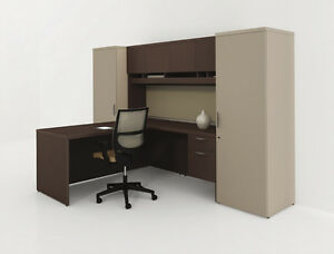 Options 114 Modern L shape Executive Office Desk Wardrobe Storage And Hutch