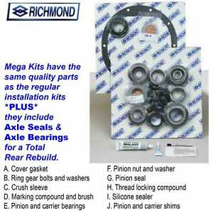 Richmond Gear 831019m Installation Kit Gm 12 Bolt Car