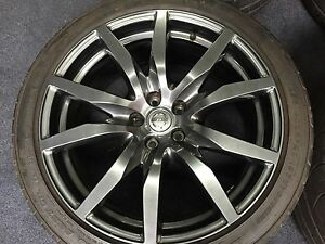 4 Genuine Nissan Gtr 20 Wheels Rays Eng Dunlop Run Flat Tires Rims Oem