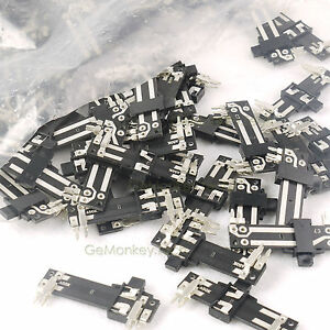 200 Pcs Linear Duplex Sliding Potentiometer 6 Pin A50k 4 0cm