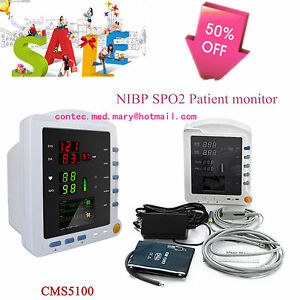 Contec Medical Cms5100 Patient Monitor W Nibp Spo2 Blood Oxygen Pulse Rate hot