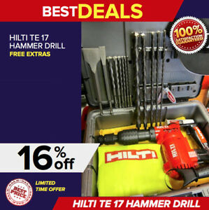 Hilti Te 17 Preowned Heavy Duty Case 2 Sets Of Free Bits Fast Ship