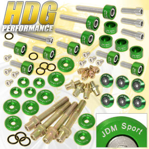 B16 B18 Cam Cap M6 Fender Valve Cover Distributor Engine Washer Bolt Set Green