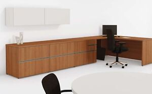 Options 72 Modern Executive Office Desk With Conference Table And Credenza
