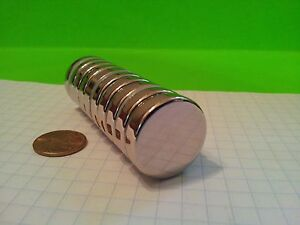 25 Neodymium N52 Disk Magnets Super Strong Rare Earth 1 X 1 4