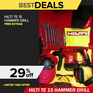 Hilti Te 15 Hammer Drill Free Drill Bits More Made In Germany Fast Shipping