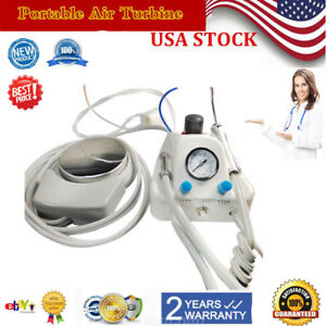 Dental Portable Air Turbine Unit Controller Work With Compressor 4 Hole Adaptor