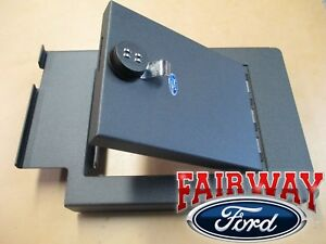 11 Thru 16 Super Duty Oem Ford Console Security Vault Gun Safe W Captain Chairs
