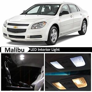 11x White Interior Map Dome Led Lights Package Kit For 2008 2012 Chevy Malibu