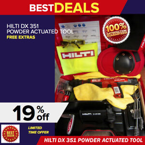 Hilti Dx 351 Actuated Power Tool In Excellent Condition Free Extras Fast Ship