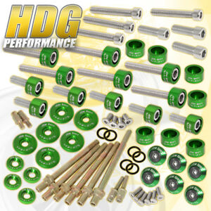 K20 K24 Honda Cup header cam Cap m6 Racing Fender valve Cover Washer bolt green