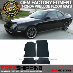 Fit 97 01 Honda Prelude Oe Factory Fitment Floor Mats Carpet Nylon Black