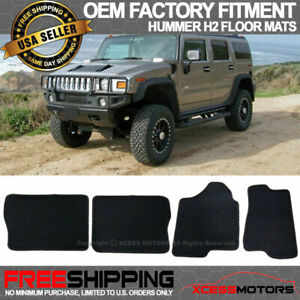 Fit 03 09 Hummer H2 4dr Oe Factory Fitment Floor Mats Carpet Nylon Black