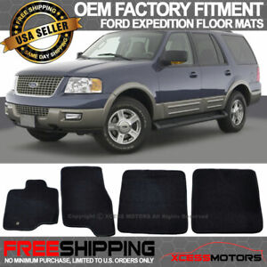 Fit 03 10 Ford Expedition Oe Factory Fit Floor Mats Carpet Nylon Black