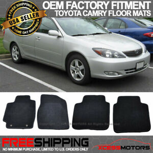 Fit 02 06 Toyota Camry Oe Factory Floor Mats Carpet Front Rear Nylon Black