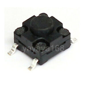 500pcs 6 6 5mm Waterproof Tact Switches Smd Microswitch Spst no Pushbutton 4legs