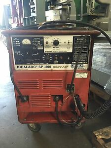 200 Amp Lincoln Sp 200 Profax Mig Gun Rollng Cart Our Stock Number 4178