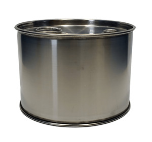 3 Gallon Stainless Steel Closed Top Barrel Drum 1mm Thick New