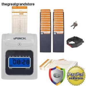 Electronic Time Clock Bundle Employee Work Hours Track Payroll Attendance Card
