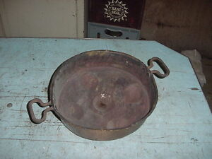 Antique Vintage Hammered Copper Muffin Biscuit Pan