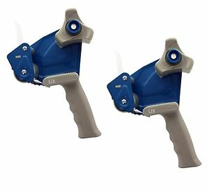 2pc 2 Inch Tape Gun Dispenser Packing Packaging Cutter Blue