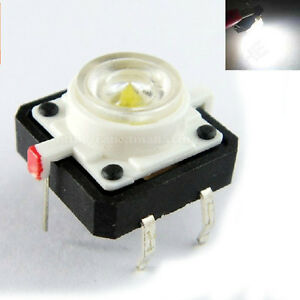 100pcs Illuminated Dip Tact Switch White Led Light 12x12mm Momentary Pushbutton