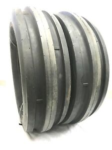 Two New 9 5l 15 8ply Rated 9 5l15 3 Rib Tractor Farm Tire Heavy Duty Tubeless