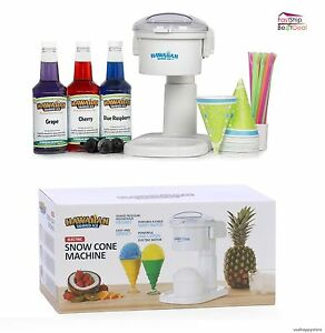 Snow Cone Machine Premium Shaved Ice Syrup Electric Maker Party Kids Commercial