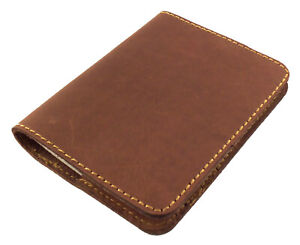 Pocket Notebook Refillable Leather Mini Composition Book Cover Notepad Handmade