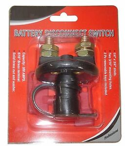 Battery Disconnect Kill Cut Off Cut Off Switch Car Boat Truck Brass Terminals