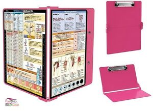 Whitecoat Folding Medical Clipboard Nurse Doctor Document Tool Healthcare Pink