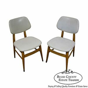 Thonet Mid Century Modern 1950s Pair Of Side Chairs