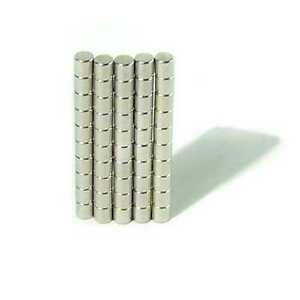 Industrial Neodymium Rare Earth Magnets N35 3x3mm Cylinder 1 8 X