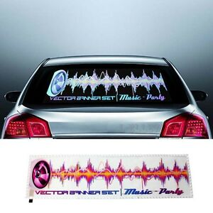 90x25cm Sound Activated Car Music Rhythm Led Flash Light Auto Sticker Eualizer