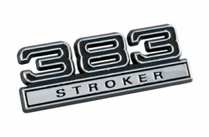 383 Stroker 6 3l Engine Emblem Badge Logo With Black Chrome Trim 4 Long