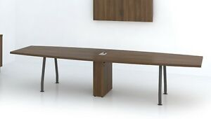 Quorum 12 Modern Boat shape Office Conference Table