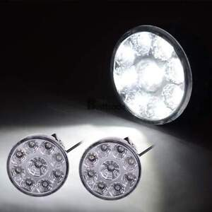 2 X 27w Led Work Light Round Flood Beam Off Road Driving Fog Lamp Truck Atv Boat