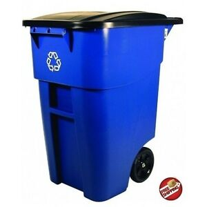 Recycling Bin Trash Waste Can Container Garbage Dumpster Commercial 50gallon New