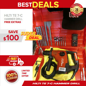 Hilti Te 7 c Hammer Drill Excellent Shape Measuring Laser free Drill Bits