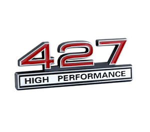 427 7 0 Liter Engine High Performance Emblem Badge Logo With Chrome Red Trim