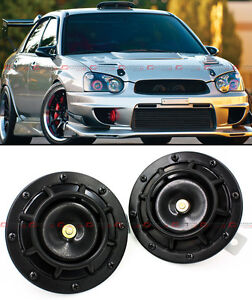 Jdm Black 12v Electric Grill Mount Compact Super Blast Tone Loud Horn For Mazda