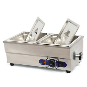 Food Warmer Restaurant Bain Marie Steam Table 6 Deep 1 2 Size Pans 1500w