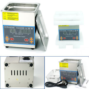 2l Digital Stainless Steel Industry Heated Ultrasonic Cleaner Cleaning Timer Usa