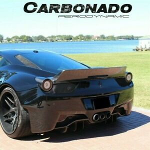 2010 2014 Ferrari 458 Italia Walker Style Carbon Fiber Rear Trunk Spoiler Wing